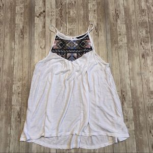 American Eagle embroidered tank top